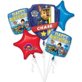 Foil Balloon-5pc Bouquet-Paw Patrol Birthday