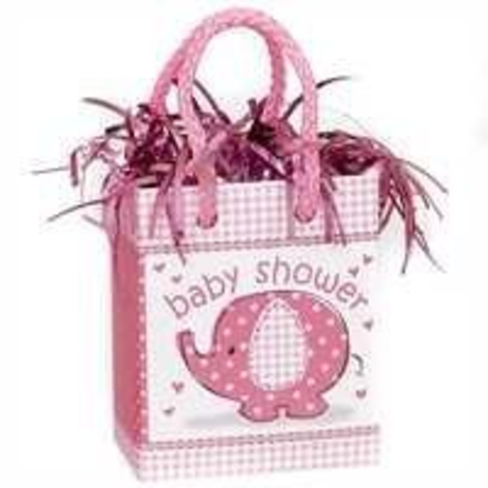 Balloon Weight - Baby Shower - Gift Bag - Pink Elephant