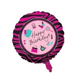 """Foil Balloon - Happy Birthday - Shoes/Makeup - 18"""""""