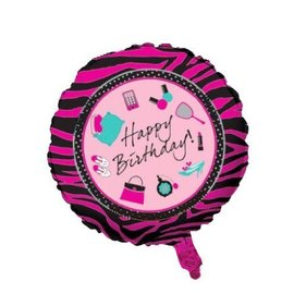 Foil Balloon - Happy Birthday - Shoes/Makeup - 18""