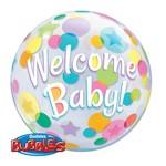 "Bubble Balloon - Welcome Baby - 22"""