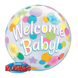 Bubble Balloon - Welcome Baby - 22""