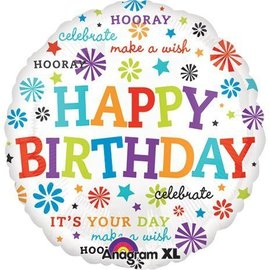 "Foil Balloon - Happy Birthday - 21"""