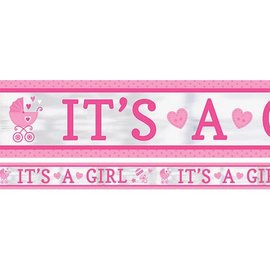 Foil Banner-It's a Girl-25ft-1Pk