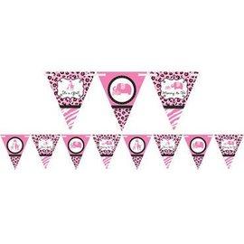 Pennant Banner-Baby Animal Pink-1pk