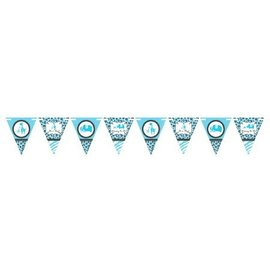 Pennant Banner-Blue Safari Boy-24 Pennants