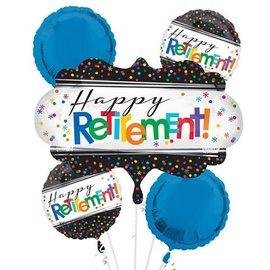 Foil Balloon - Happy Retirement! Bouquet - 5 balloons