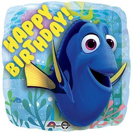 Foil Balloon - Finding Dory Happy Birthday! - 17""