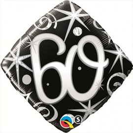 Foil Balloon - 60th - 18""