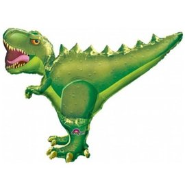 Foil Balloon-Supershape-Green T-Rex