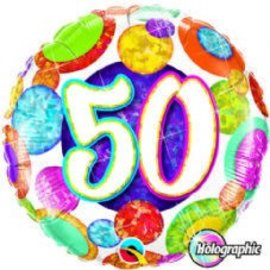 Foil Balloon - 50th - 18""