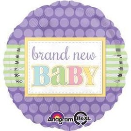 Foil Balloon - Brand New Baby - 17""