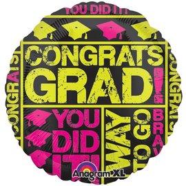 """Foil Balloon - Congrats Grad - 17"""""""