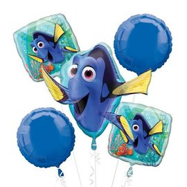 Foil Balloon-5pc Bouquet-Finding Dory