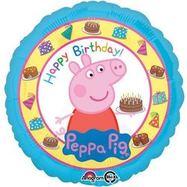 Foil Balloon - Happy Birthday Peppa Pig - 17""