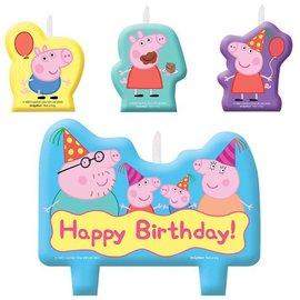 Candle Set - Peppa Pig - 4pc