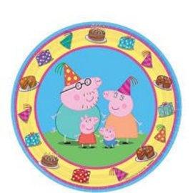 Plates - BV - Peppa Pig - 7'' - 8pkg