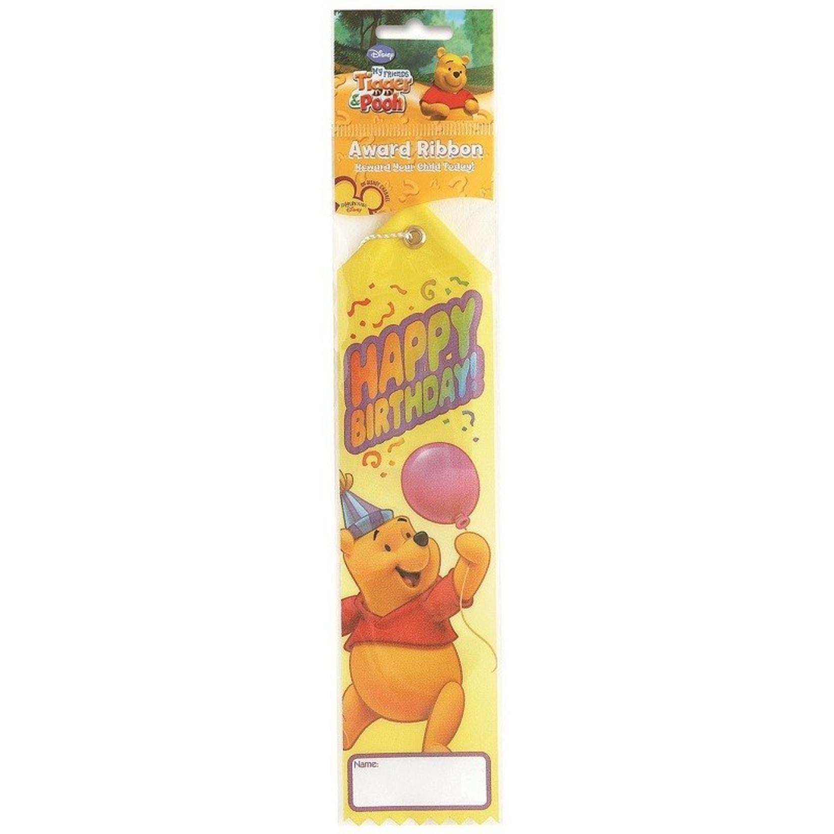 Award Ribbon - Happy Birthday - My Friends Tigger and Pooh