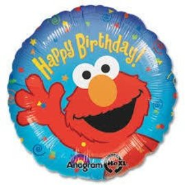 Foil Balloon - Elmo Happy Birthday - 17""