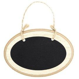 Chalkboard-Mini Oval Wooden Sign