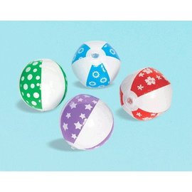 Inflatable Mini Beach Balls - 24pc