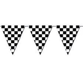 Giant Pennant Banner - Checkered Flag - 12ft