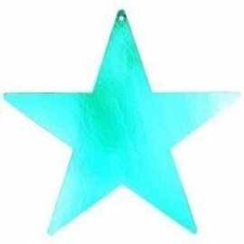 Cutout - Foil - Star - Metallic Blue - 5""