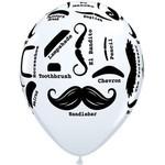 "Balloons - Latex - Mustsache Styles - 11"""