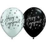 "Latex Balloons - Engagement Elegant Sparkles - 11"""