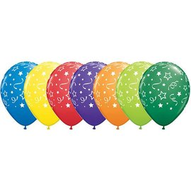 "Latex Balloons - Stars, Dots, Confetti - 11"""