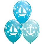 """Latex Balloon-Nautical Sailboat & Anchor-Without Helium-11"""""""