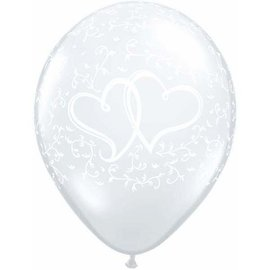 Latex Balloons - Entwined Hearts - 11""