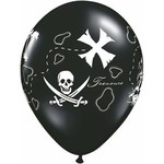 "Latex Balloons - Pirate's Treasure Map - 11"""