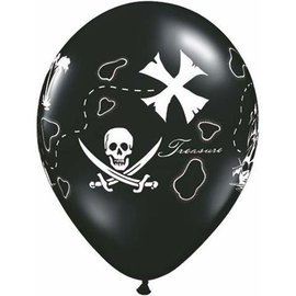 Latex Balloons - Pirate's Treasure Map - 11""