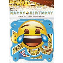Emoji - Happy Birthday Banner 6ft