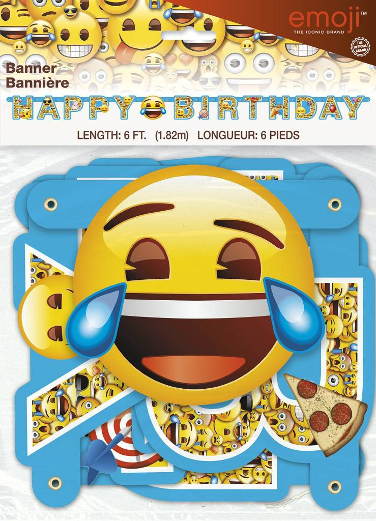 Emoji Happy Birthday Banner 6ft