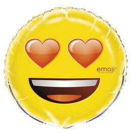 "Emoji-Heart Eyes Foil Balloon 18"""