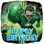 "Foil Balloon-Green Lantern Happy Birthday 18"""