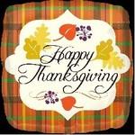 "Foil Balloon-Happy Thanksgiving 18"""
