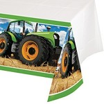 Plastic Table CoverTractor Time-54''x102''-Plastic