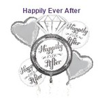 Foil Balloon-5pc Bouquet-Happily Ever After Ring
