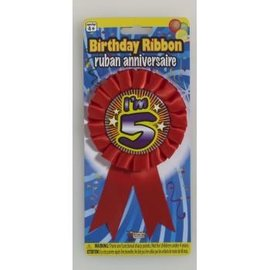 I'm 5 Birthday Ribbon