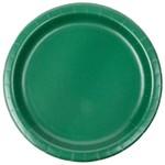 "Plates Paper Bev Hunter green 7"" (20PK)- Discontinued"