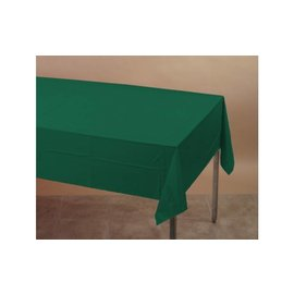 Table Cover Plastic Hunter Green (54 IN x 108 IN)- Discontinued