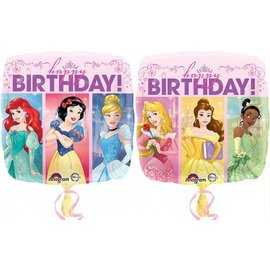 Foil Balloon-Disney Princess Birthday Square 17""