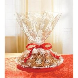 Cello Bags Cookie Snowflake - 6 Pcs (16x18in)