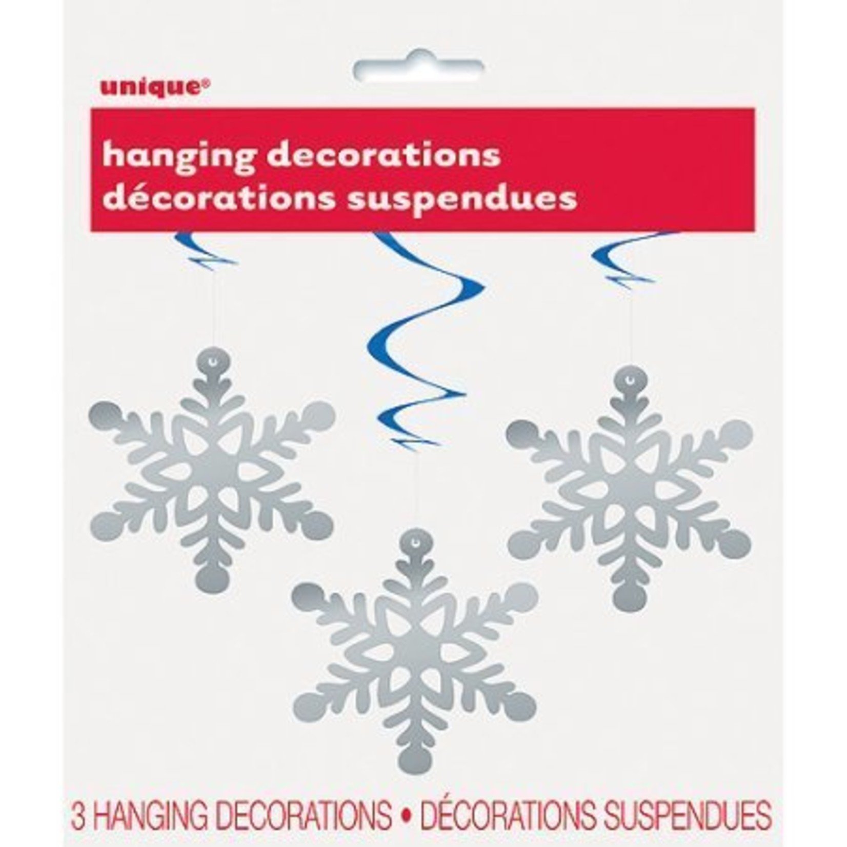 3 Hanging Snowflakes Decorations