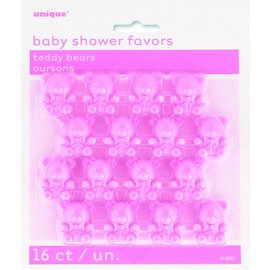 Favors Baby shower - 16 Pcs ( Pink)