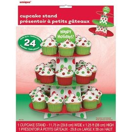 "Cupcake Stand Card Board - Christmas - 11.75""x1.25FT"