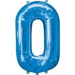 """Foil Balloon-Blue #0-34"""""""
